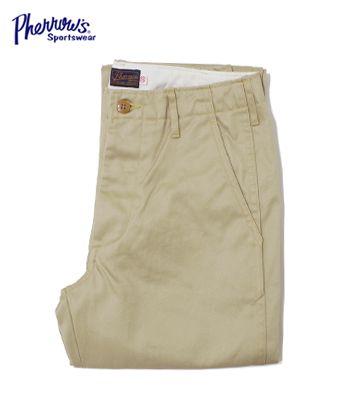PHERROW'S フェローズ 高密度コットンツイル|タイトフィットチノーズ『TIGHT CHINO』【アメカジ・ワーク】COT(Other pants)(std-chino-pherrows)
