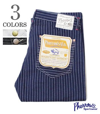 3105b5d10e073 PHERROW'S Fellowes 30's MODEL| ウォバッシュ | Duck | Work pants