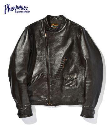 PHEROW'S PHERROW'S フェローズ 茶芯 ホースハイド ライダース モーターサイクルジャケット『LEATHER MOTORCYCLE JACKET』【アメカジ・ライダース】GX72(Leather jacket)(std-lj-pherrows)