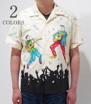 STAR OF HOLLYWOOD スターオブハリウッド 半袖 コットンウェザーオープンカラーシャツ '19Model『KING OF ROCK'NROLL OPEN SHIRT』【洋柄・アロハ】SH38116(Aloha)
