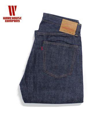 WAREHOUSE ウエアハウス 13.5oz|オリジナルストレート|ノンウォッシュ『Lot.1001XX ORIGINAL STRAIGHT』【アメカジ・ワーク】1001XX(Denim)(std-jeans-warehouse)