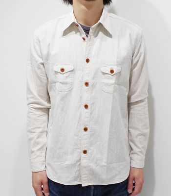 "ORGUEIL orugeiyukottonrinenkurashikkuwakushatsu""Cotton Linen Classic Work Shirt""OR-5010C(Long sleeve shirt)"