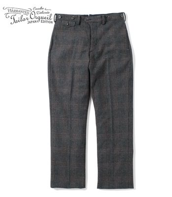 ORGUEIL オルゲイユ 尾州産グレンチェック|トラウザー『Glen Check Trousers』【アメカジ・ワーク】OR-1049(Other pants)