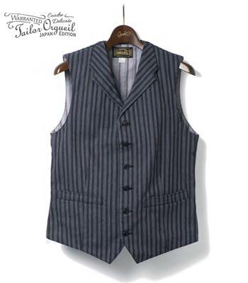 ORGUEIL オルゲイユ フレンチストライプ|ベスト|ジレ『French Stripe Gilet』【アメカジ・ワーク】or-4131a1(Vest)