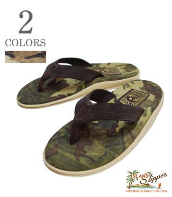 ISLAND SLIPPER アイランドスリッパ Made in HAWAII|スウェード|ビーチサンダル『CAMO SUEDE SANDAL』【アメカジ・サンダル】IS-PT203C(Sandal)