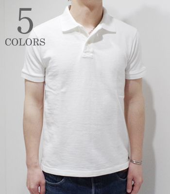 UES ウエス 吊編み|スラブ糸|製品染め|ポロシャツ『吊り鹿の子ポロ』【アメカジ・ワーク】67LW(Polo Shirts)