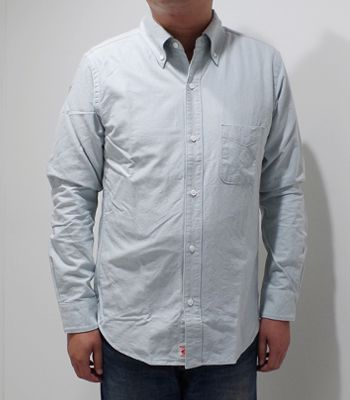 UES ウエス 長袖|インディゴ染色|ボタンダウンシャツ『インディゴオックスシャツ』【アメカジ・ワーク】501801(Long sleeve shirt)