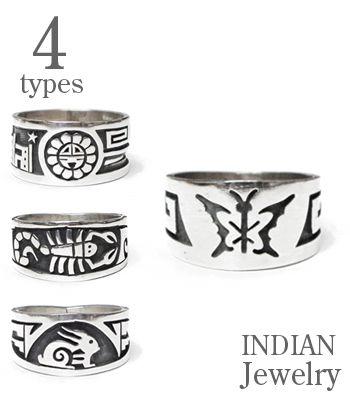 INDIAN JEWELRY ホピ族アーティストの作品『HOPI RING』【アメカジ・ネイティブ】IJ-022(Ring)