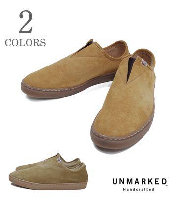 SNEAKER』【アメカジ・スニーカー】MOCSneaker(Sneaker) UNMARKED ハンドメイド スウェードスニーカー『MOC アンマークド