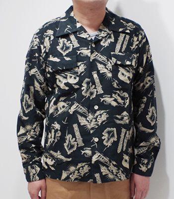 STYLE EYES スタイルアイズ 長袖 コットンフランネル オープンカラーシャツ『ALASKA SPORTS SHIRT』【アメカジ・50's】SE28259(Long sleeve shirt)