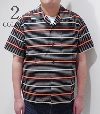 STYLE EYES スタイルアイズ 半袖|コットンブロード|オープンカラーシャツ『MULTI STRIPE SPORTS SHIRT』【アメカジ・50's】SE38353(Bowling)
