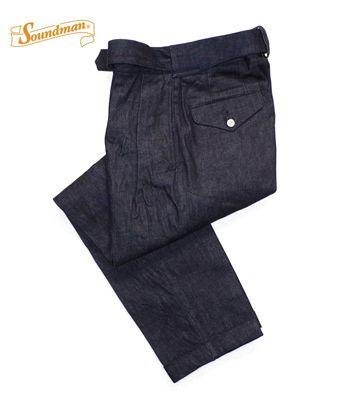 Soundman サウンドマン 12oz.デニム|ブリティッシュアーミー|オフィサートラウザー『Loto Officer Trousers』【アメカジ・ワーク】264M-803L(Other pants)