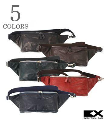 Butler Verner Sails バトラーバーナーセイルズ Made in JAPAN|馬革|ボディバッグ『ポニープルアップワンショルダー』【アメカジ・バッグ】JA-1111(Bag)(std)
