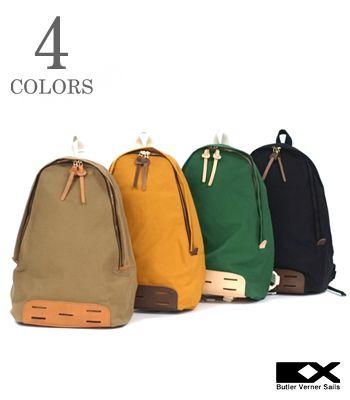 Butler Verner Sails バトラーバーナーセイルズ Made in JAPAN パラフィン加工 キャンバス『10号パラフィンデイパック』【アメカジ・バッグ】JA-1509(Bag)(std)
