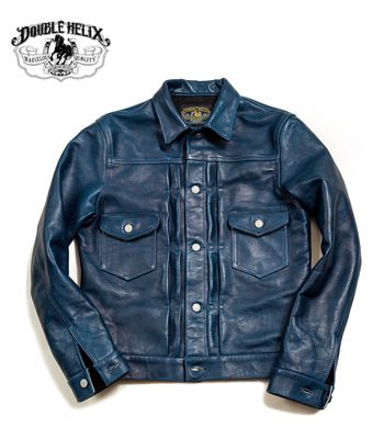 DOUBLE HELIX ダブルヘリックス ホースハイド レザージャケット『Gold Digger』【アメカジ・ワーク】1806(Leather jacket)