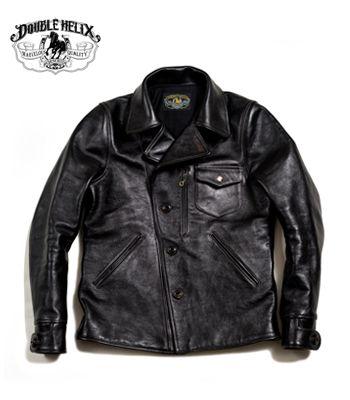 DOUBLE HELIX ダブルヘリックス ホースハイド|ライダースジャケット『Helix Rider』【アメカジ・ワーク】RC01(Leather jacket)