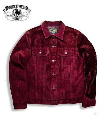DOUBLE HELIX ダブルヘリックス ホースハイド|スウェード|トラッカージャケット『The Boxer』【アメカジ・ワーク】WM04(Leather jacket)