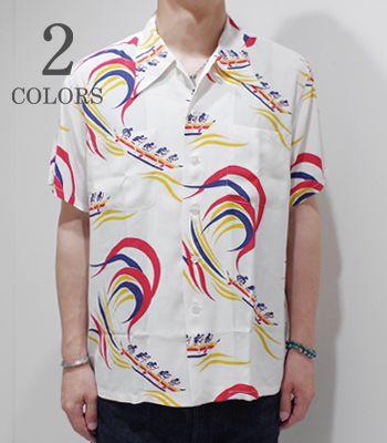 Mens Button-up Shirts Vintage Panel Print Cotton Short Sleeve Hawaiian Henry Collar Shirt Tops