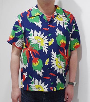 SUN SURF サンサーフ SHORT SLEEVE RAYON ALOHA SHIRT '20MODEL『ISLAND KING PROTEA』【アロハ・洋柄】SS38324(Aloha)