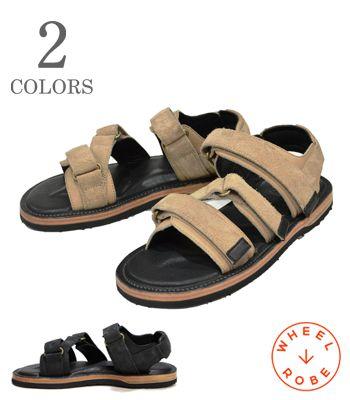 WHEEL ROBE ウィールローブ Made in JAPAN|HORWEEN社製|キャリコレザー|サンダル『WANERING SANDALS』【ブーツ・アメカジ】15082S(Sandal)(std-sandals)