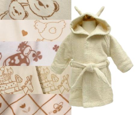 出産祝い オーガニックコットン ベビーバスローブ&選べる綿毛布(柄)セット (出産祝 ギフトセット プレゼント 名入れ)