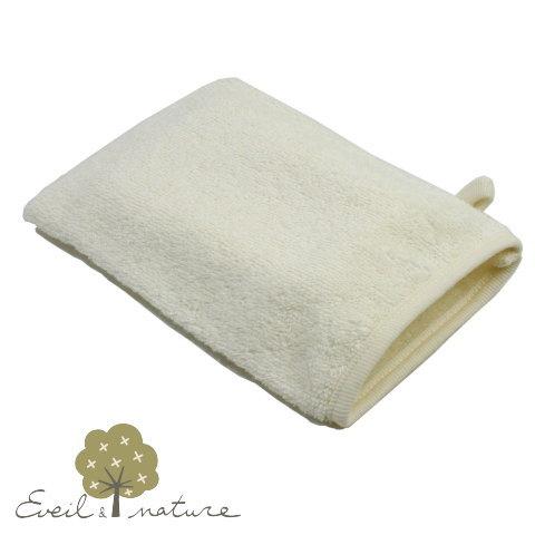 オーガニックコットンで優しく洗う オーガニックコットン ウォッシュタオル EveilNature 毎日がバーゲンセール ナチュラル 高品質