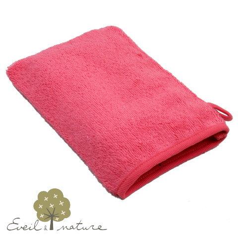 オーガニックコットンで優しく洗う オーガニックコットン ウォッシュタオル (コーラル EveilNature
