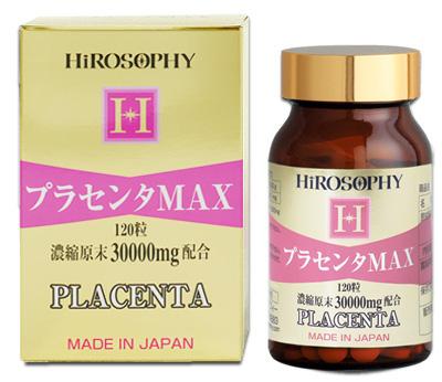 HIROSOPHY ヒロソフィー 錠剤プラセンタMAX 120粒/約1ヶ月分