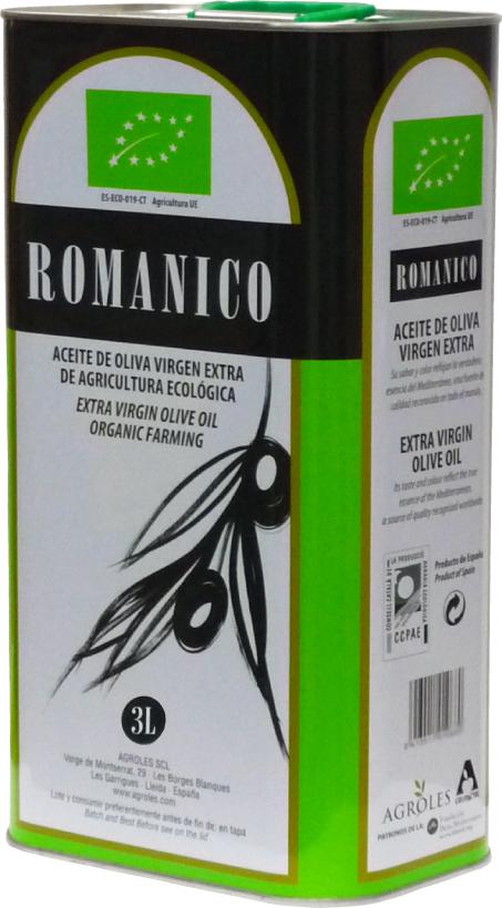 ロマニコ オーガニック エキストラヴァージン オリーブオイル 3L
