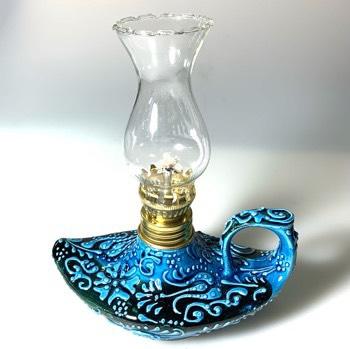 Aladdin 魔法のランプ 空飛ぶ絨毯 アラジン トルコ トルコ土産 トルコみやげ トルコお土産 トルコおみやげ トルコ雑貨 キャンドルホルダー 香炉 トルコ手描陶器アラジンランプ02