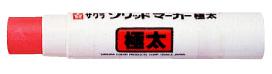 ソリッドマーカー [SC-L19] 固形ペンキ (極太:赤:10本入) 【サクラクレパス】【測量用品】【土木用品】【建築用品】