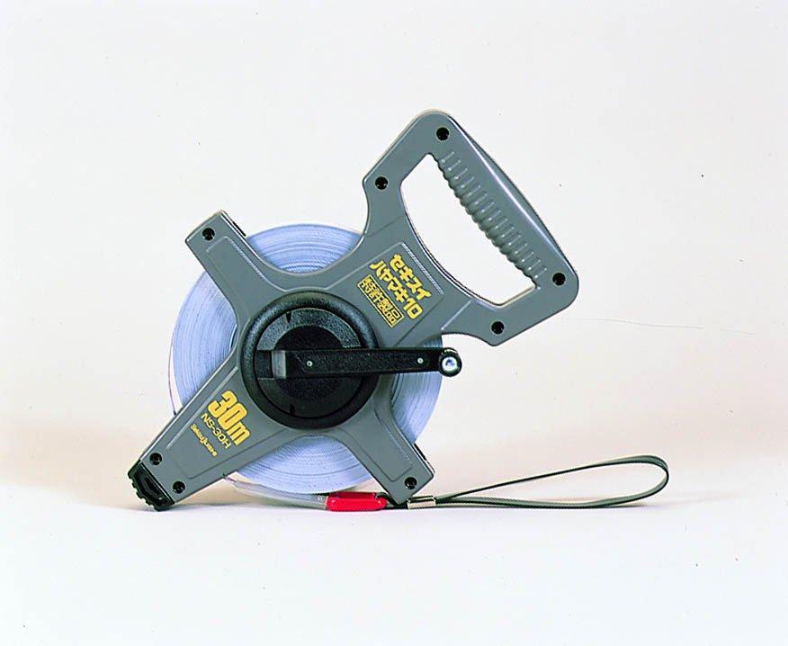 【セキスイ】ハヤマキ10 [10NS-50H] 巻尺 ナイロンコ-トテ-プ 50m (JIS1級)【測量用品】【土木用品】【セキスイ樹脂】【測定器】【測量用三脚】【測量機器】