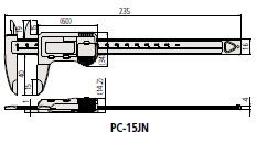 Mitutoyo [PC-15JN] digital vernier calipers 700-125 plastic digital vernier calipers