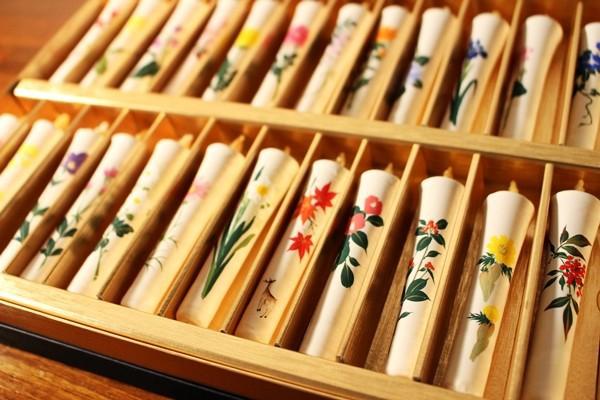 和ろうそく 特撰絵ろうそく 2号24本 二十四節季を彩る草花セット 米ぬか 和室 大與 手づくり 仏前 インテリア