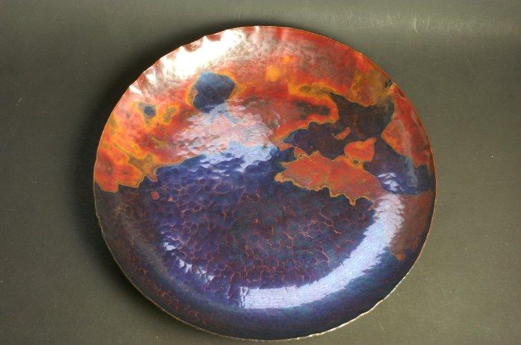 手作り銅器 丸皿 特大 セール価格 茜 即納送料無料