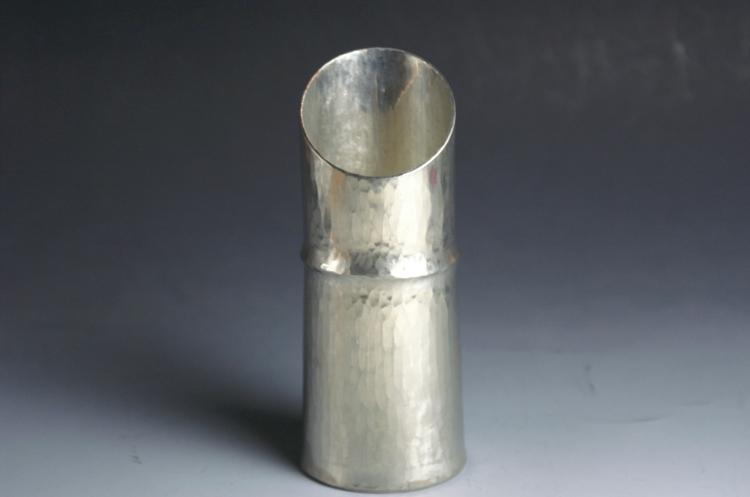 手作り銅器 錫被 竹筒形 徳利(とっくり) 180cc 一節 酒器【日本酒】