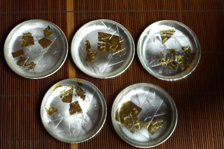 手作り銅器 コースター祥雲(5枚組)