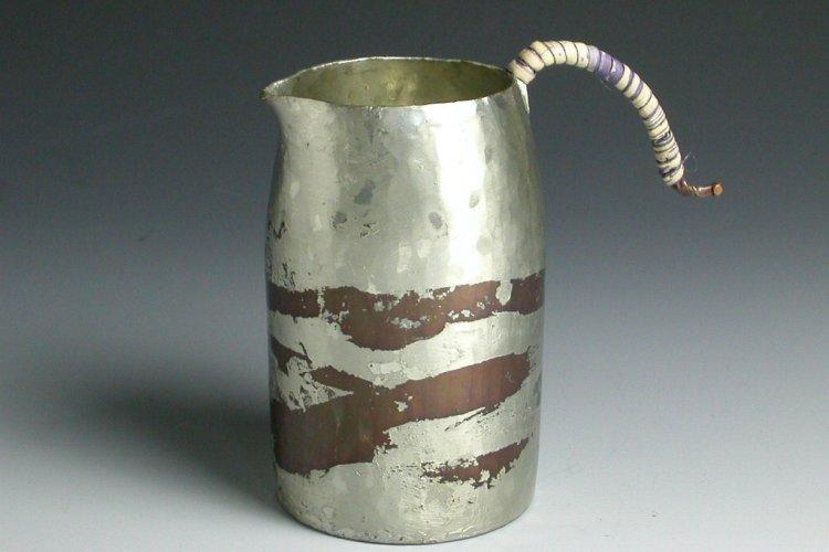 手作り銅器 ちろり 錫被ストレート(茶)小 酒器【日本酒】【冬ギフト】【御祝】