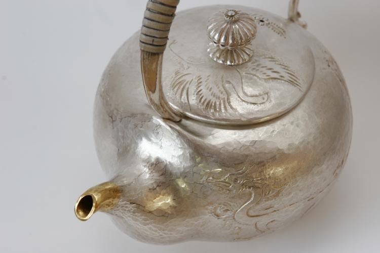 打ち出し銀器 銀の燗瓶 酒器