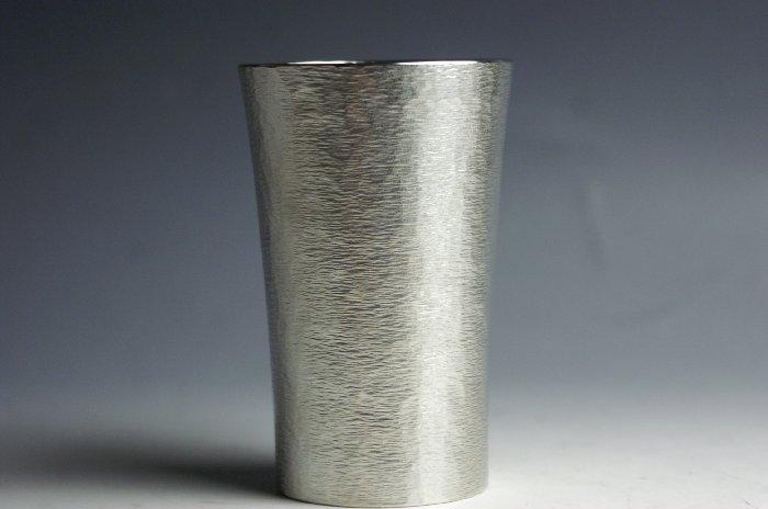 錫器(鋳造) ビアカップ 鎚目【ビール焼酎】【引出物御祝記念品】