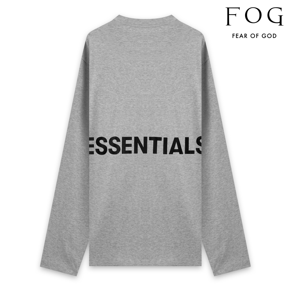 FOG ESSENTIALS エフオージー エッセンシャルズ FEAR OF GOD ESSENTIALS BOXY GRAPHIC LONG SLEEVE T-SHIRT - HEATHER GREY ロングスリーブ Tシャツ ヘザーグレー