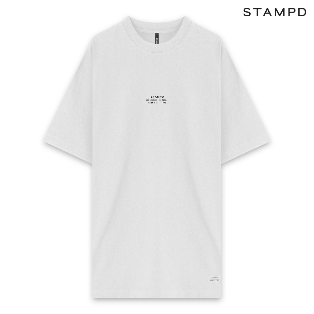 STAMPD | SS20 COLLECTION. STAMPD スタンプド STACKED LOGO TEE - WHITE ショートスリーブ Tシャツ ホワイト