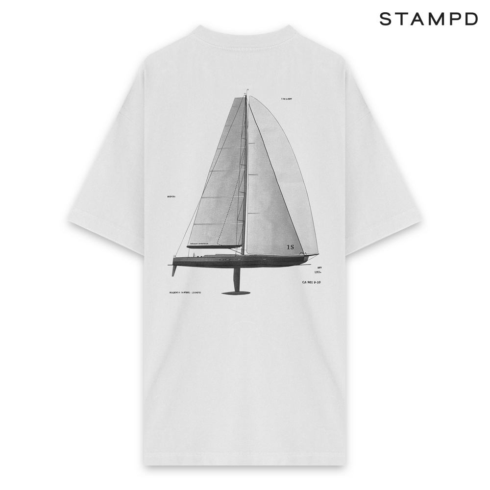 STAMPD | SS20 COLLECTION. STAMPD スタンプド SAIL TEE - WHITE ショートスリーブ Tシャツ ホワイト