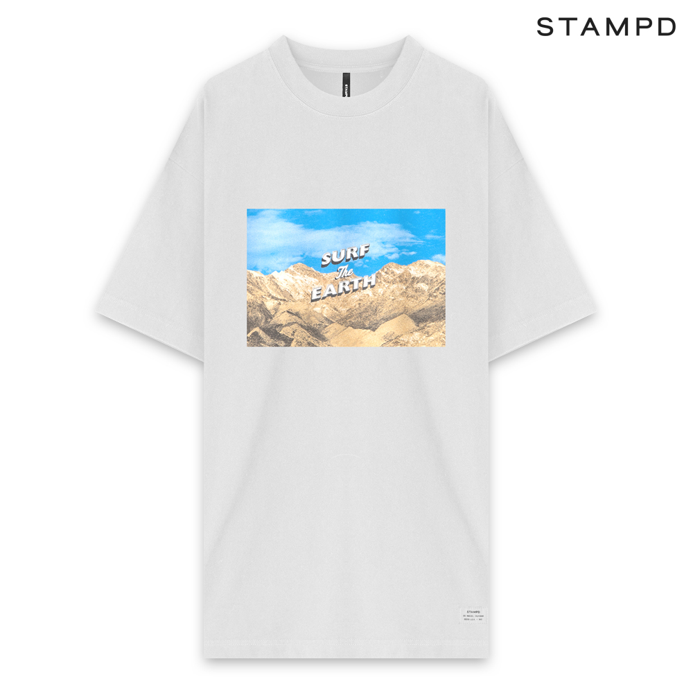 STAMPD | SS20 COLLECTION. STAMPD スタンプド SURF THE EARTH TEE - WHITE ショートスリーブ Tシャツ ホワイト