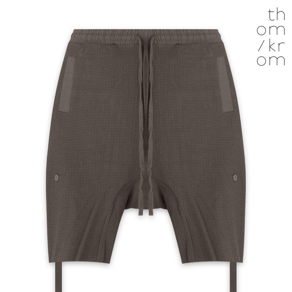 THOM/KROM トムクロム RELAXED-FIT BAND SHORTS - DIRT OIL ショートパンツ ダートオイル
