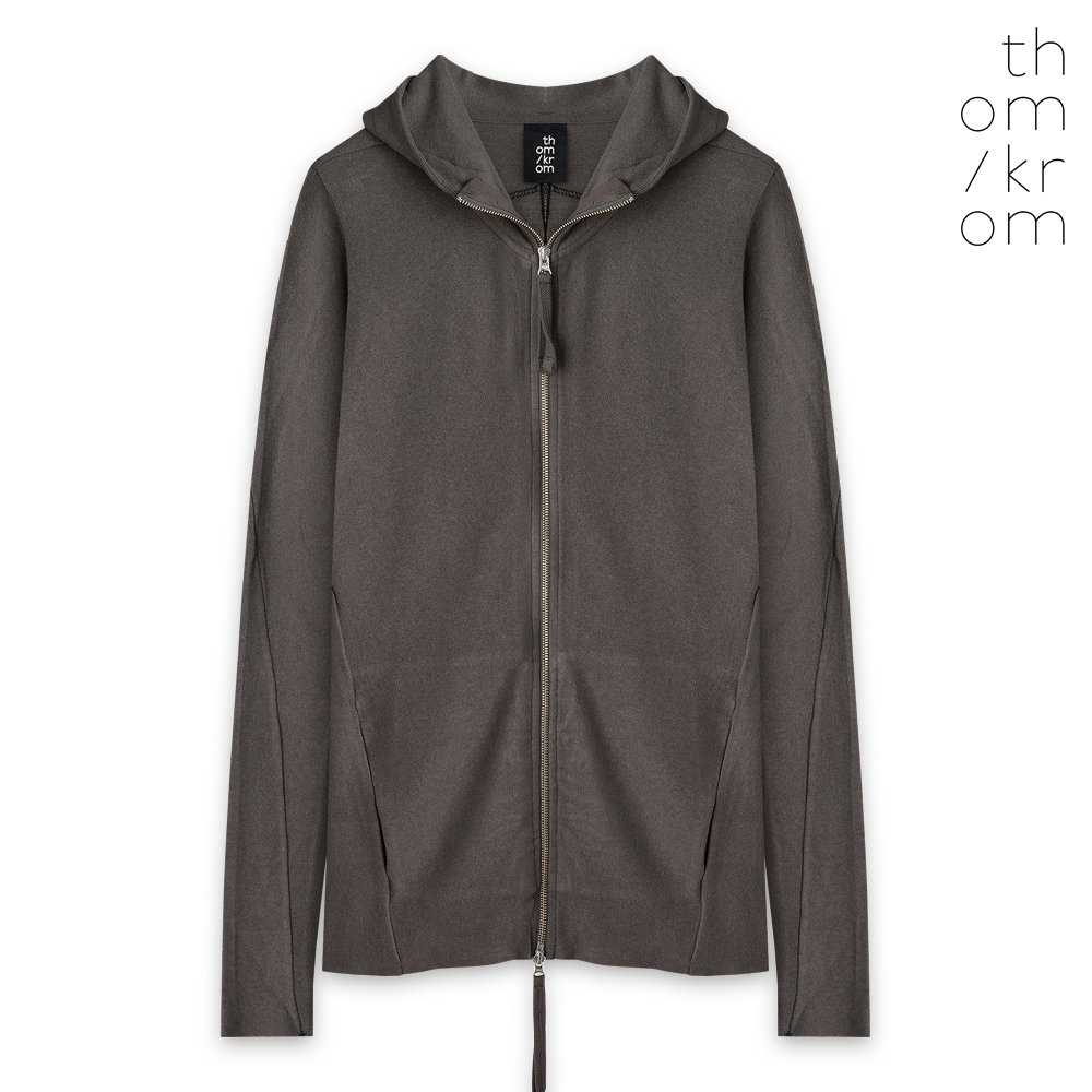 THOM/KROM トムクロム HOODED JACKET - TAUPE ジップアップパーカー トープ