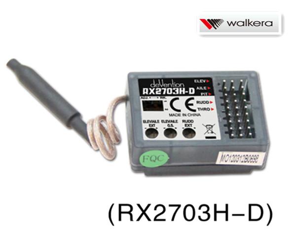 ワルケラ walkera V450D03用 バーレス用6軸ジャイロ内蔵 2.4Ghz受信機 (RX2703H-D)DEVO送信機用 (HM-NEWV450D01-Z-04)|ラジコンヘリ関連商品 walkera パーツ
