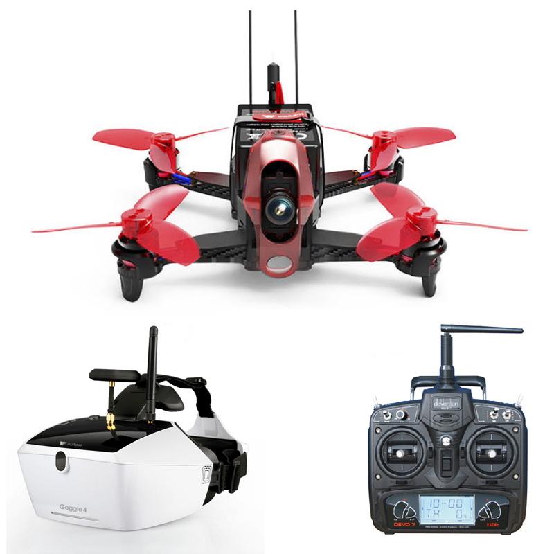 【技適・電波法認証済】WALKERA Rodeo 110 + DEVO7 + Goggle4 セット 室内FPVドローン ワルケラ 純正 カメラ 充電器 付き RTF (rodeo110-goggle4) 日本語プロポ説明書付 レーシング クワッド ドローン
