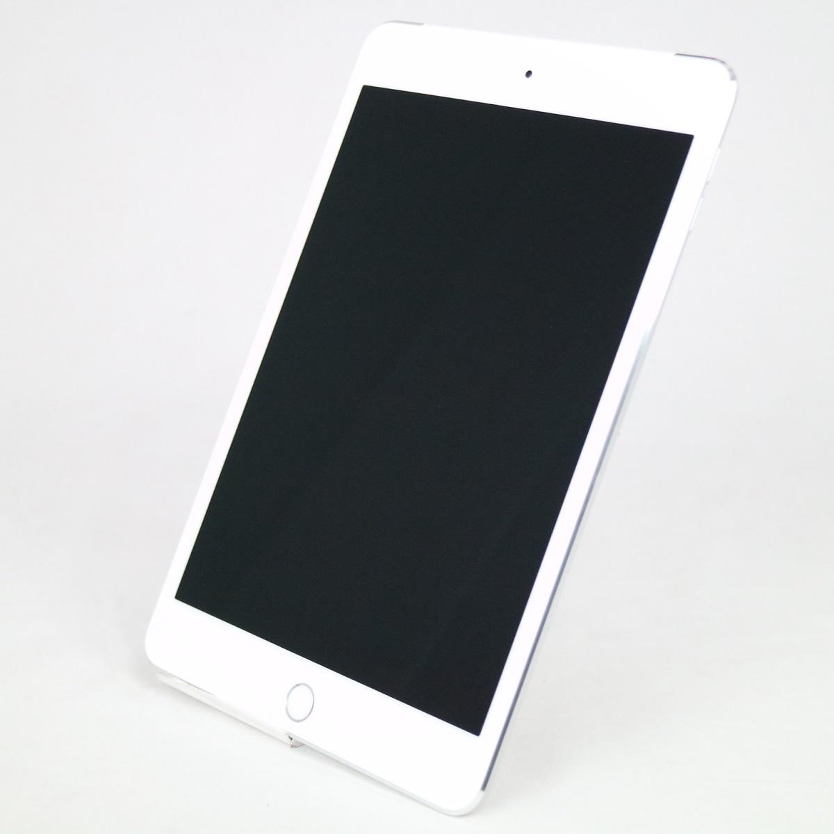 iPad mini 4 Wi-Fi +Cellular au MK772J A 新色 Bランク 中古 Cellular モデル 7.9インチ 128GB シルバー 国内正規品