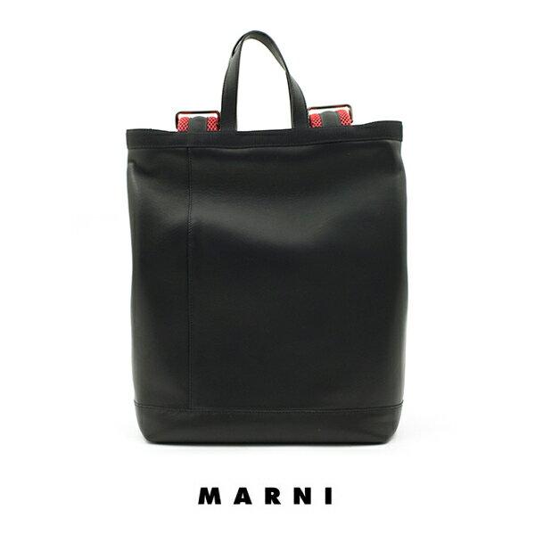 MARNI マルニ 最高級 本革 レザー リュック バッグ ブラック 男女兼用 super-design-bazar スーパーデザインバザー あす楽対応